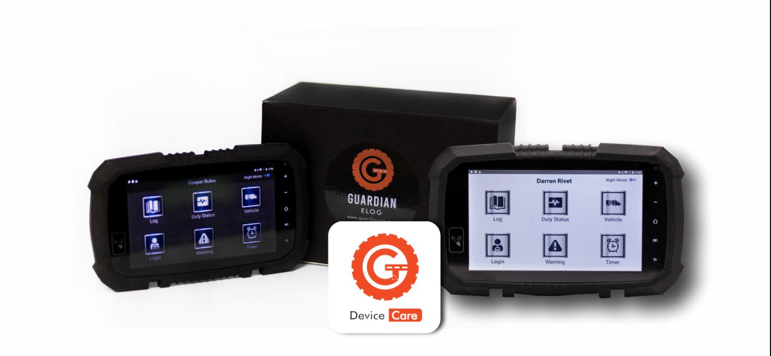 Guardian ELOG Device Care